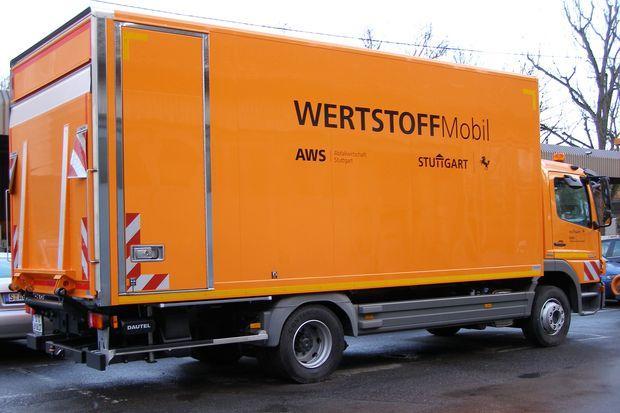 Versuch mit Wertstoffmobil startet im Februar 2014. Foto: AWS